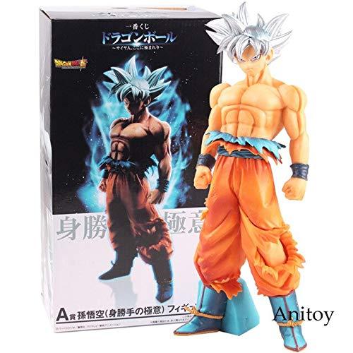 Romantic-Z Dragon Ball Super Figure Goku Figura de acción Super Saiyan Sliver Hair Son Goku Ultra Instinct Ultra Goku Instinct Toy 26cm, con Caja