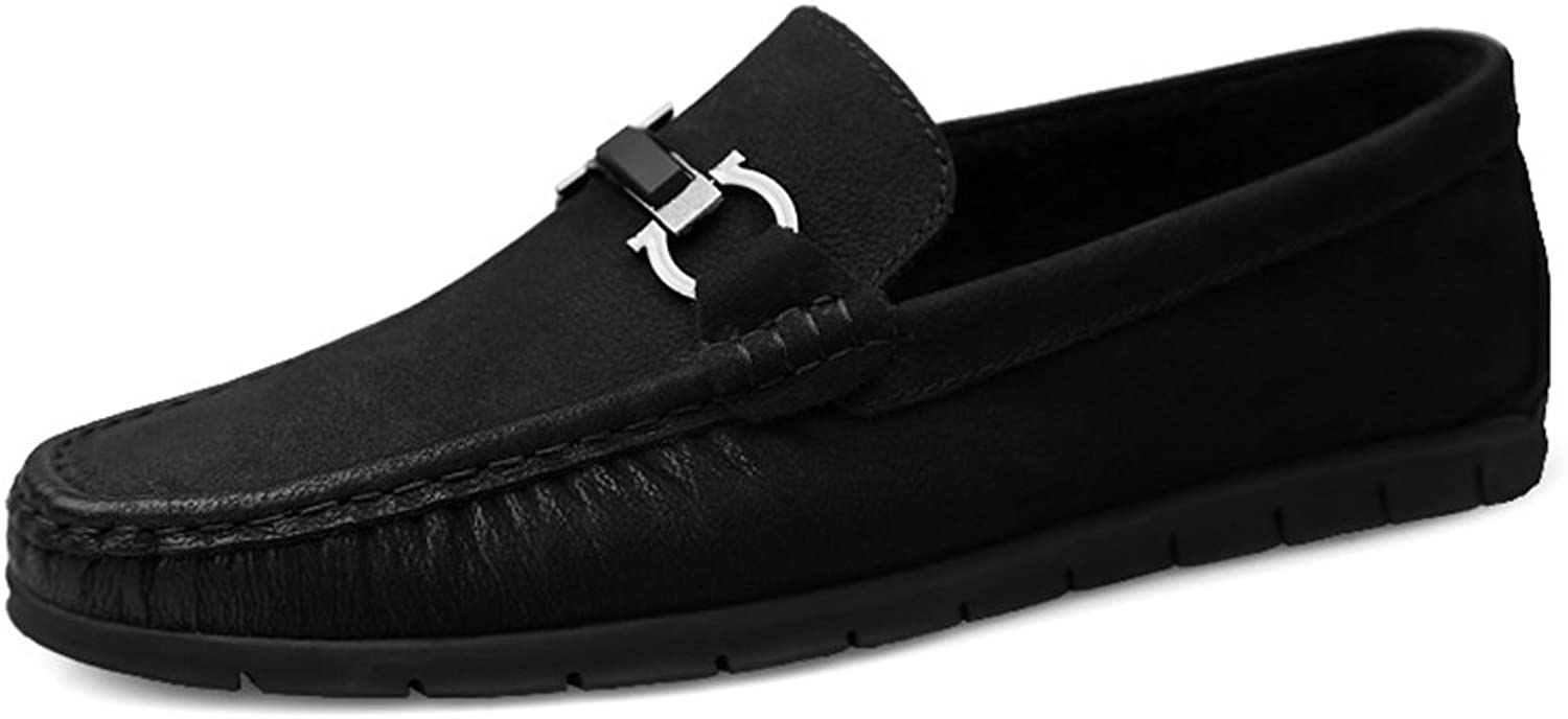 Men's shoes Leather Spring Fall Comfort Loafers & Slip-Ons Driving shoes Walking shoes Office & Career Breathable Comfort Outdoor Lazy shoes Formal Business Work (color   B, Size   46)