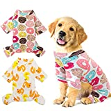 HYLYUN 2 Pack Puppy Pajamas - Cats Onesie Soft Dog Pajamas Cotton Puppy Rompers Pet Jumpsuits Cozy Bodysuits for Small Dogs and Cats XXL