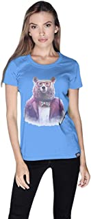 Creo Bear Pug Life Round Neck T-Shirt For Women - Xl