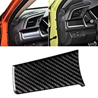 ZUQIEE ホンダの第十世代シビック2016年から年のための炭素繊維装飾ステッカー/カーカーボンファイバー中央制御左ストライプ装飾ステッカー