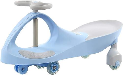 Scooter pour Enfants Twist Voiture Marcheur Silencieux Flash magnétique Roue   vélo Poids 100kg 1-3 Ans Cadeau Voiture Jouet (Couleur   vert, Taille   41  80  43CM)