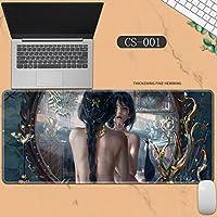素敵なマウスパッド特大アイスプリンセスゴーストナイフ風チャイムプリンセスアニメーション肥厚ロック男性と女性のキーボードパッドノートブックオフィスコンピュータのデスクマット、Size :400 * 900 * 3ミリメートル-CS-001