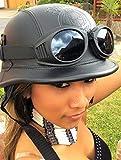 Kenai Chopperhelm -M- + Brille Bikerhelm -M- + Brille Roller-Helm -M- + Brille Jethelm -M- Cooler Helm -M- incl. Motorradbrille