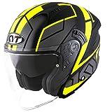 KYT casco nf-j Motion Matt Yellow flúor–XL