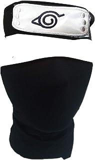 IDOXE Naruto Headband Leaf Village Black Kakashi Mask Toy for Anime Cosplay