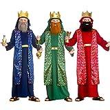 Disfraz de Natividad de Navidad para niños de 11 a 13 años, color azul