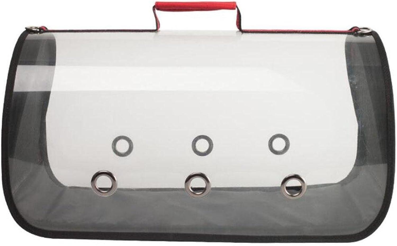 LVRXJP Portable Transparent Pet Handbag Cat Dog Shoulder Bag Pets Out Portable Backpack
