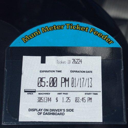 Muni Meter Ticket Feeder - Parking Receipt Holder for your Windshield