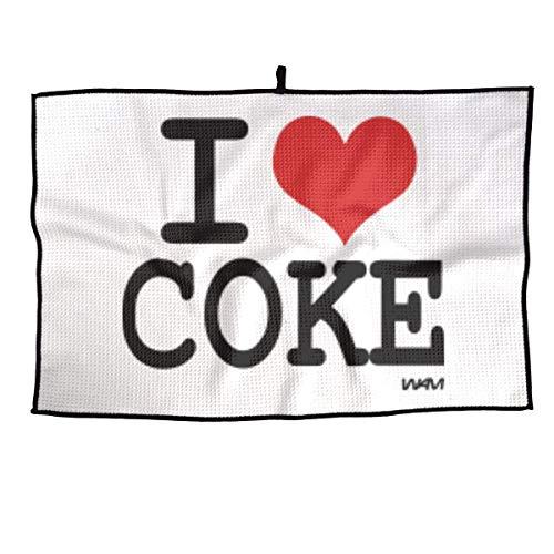 JBNTJDG Toalla de Golf I Love Coke by WAM Toalla Deportiva 23 x 15 Pulgadas Toalla de Jugador de Gimnasio