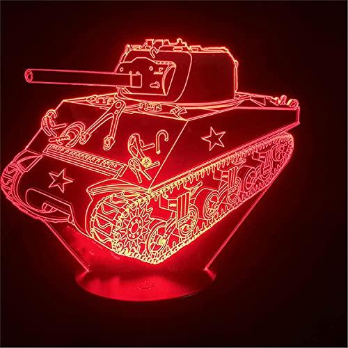 Jinson well Lámpara 3D, ilusión óptica, luz nocturna, 7 cambios de color, mesa de escritorio, decoración, lámpara de acrílico, base de ABS, USB, juguete