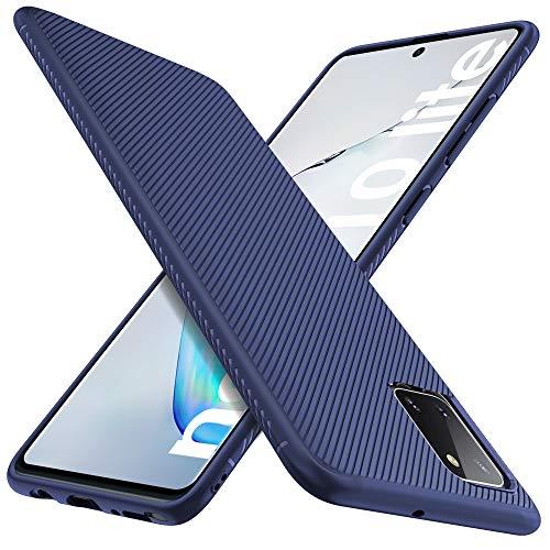 iBetter für Samsung Galaxy Note 10 Lite Hülle, Samsung Galaxy A81/M60s Hülle, Ultra Thin Silikon Hülle Handyhülle Schutzhülle Shock Absorption passt für Samsung Galaxy Note 10 Lite Phone,Blau