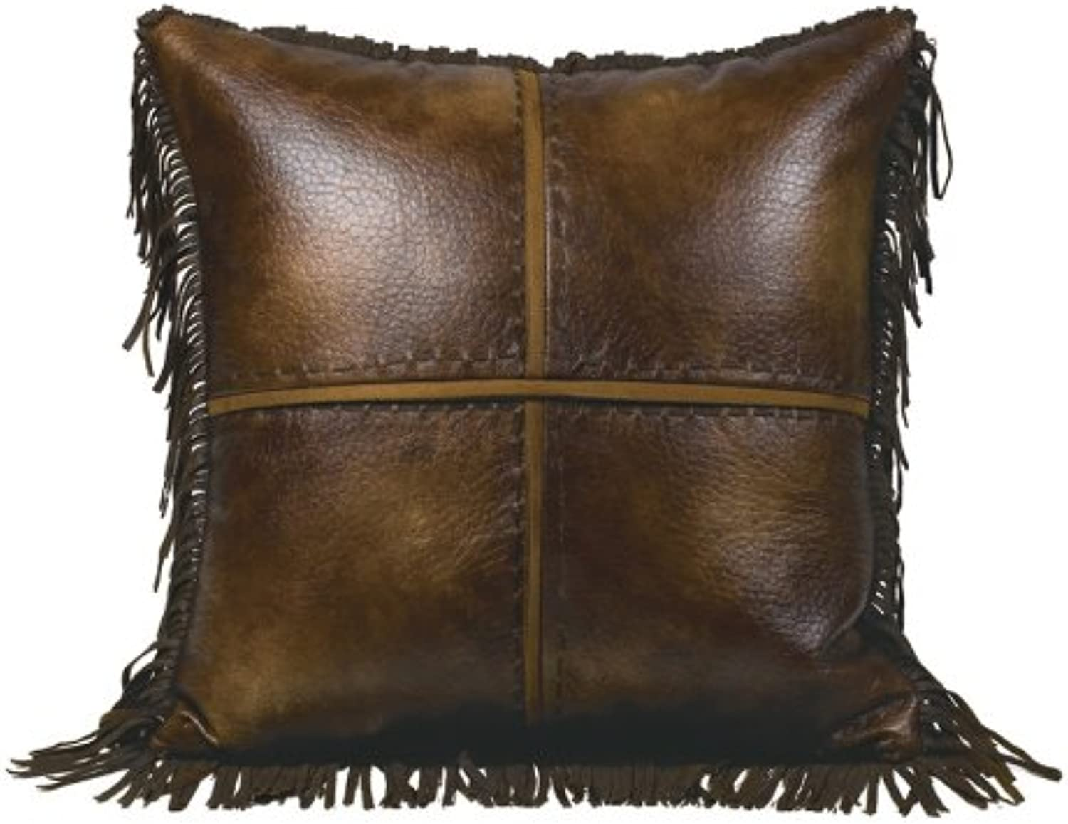HiEnd Accents Faux Leather Western Accent Pillow