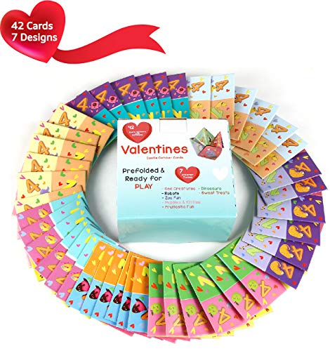 Check Out This MOMONI Premium 42 Piece Valentines day cootie catcher cards game with envelopes- Perf...