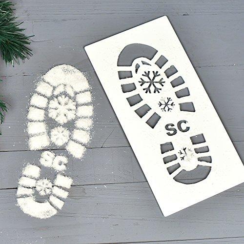 Original Monkey Weihnachtsmann-Fußabdruck-Schablone Dekor, Weihnachtsmann-Fußabdruck-Schablone inklusive Schnee, Heimzubehör
