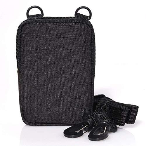 Zink Soft Camera Case - Cámara pequeña de impresión instantánea y bolsa de impresora con bolsillo de papel fotográfico, cierre de cremallera y bandolera - Negro