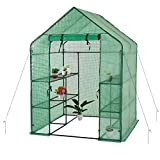 Gosunny 4-Anchors Include Walk in Greenhouse, Green(56' W x 56 'D x 77' H)