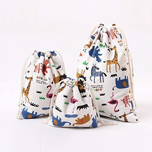 Aober Pocket Drawstring Pouch Canvas Staubtuchbeutel Tragbare Kleinigkeiten Aufbewahrungstasche Candy Geschenktüten, 25 x 32 cm