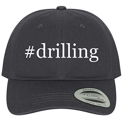The Town Butler #Drilling - A Comfortable Adjustable Hashtag Dad Baseball Hat, Dark Grey, One Size