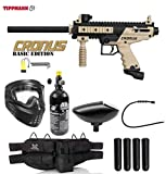 Maddog Tippmann Cronus Tactical Silver Paintball Gun Package - Black/Tan