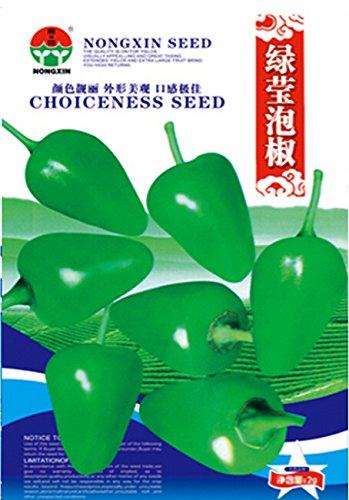Sichuan vert marinés Chili Seeds, 1 pack d'origine, Environ 300 graines / Pack, Heirloom Hot Pepper Seeds # NX025