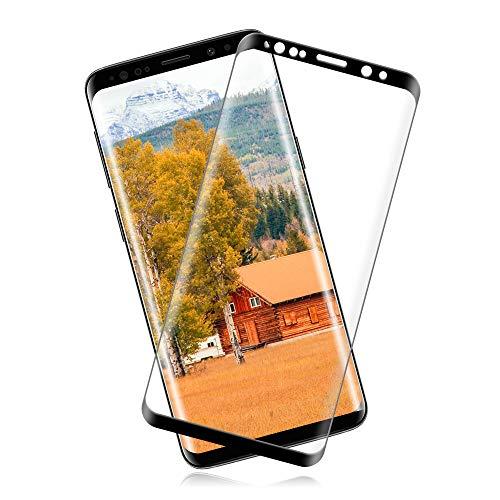 [2 Piezas] Cristal Templado Samsung Galaxy S9 Plus Vidrio Templado con [9H Dureza] [Sin Burbujas] [Alta Definición] [Anti-Huella] [Cobertura Completa]