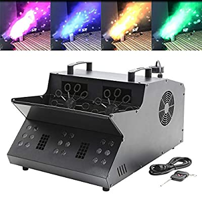 Tengchang 3 in 1 DMX Stage Machine 18 RGB LEDs Fog Machine Bubble Machine Stage Party Event Lighting from Tengchang