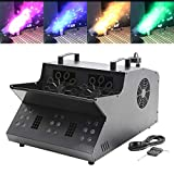 Tengchang 3 in 1 DMX Stage Machine 18 RGB LEDs Fog Machine Bubble Machine Stage Party Event Lighting