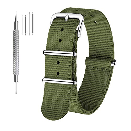 CIVO Correas de Reloj Nato Correa Reloj de 18mm 20mm 22m para Hombre Mujer