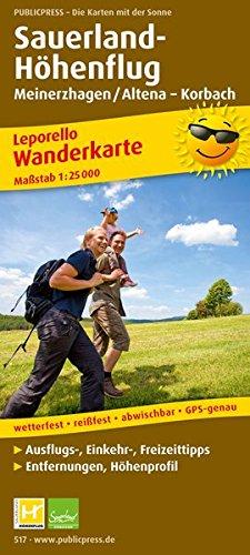 Sauerland Höhenflug, Meinerzhagen / Altena - Korbach: Leporello Wanderkarte mit Ausflugszielen, Einkehr- & Freizeittipps, wetterfest, reissfest, ... 1:25000 (Leporello Wanderkarte / LEP-WK)
