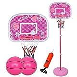 LQH Basketballkorb Höhe Adjustable120-170Cm Kinder Basketball Indoor Outdoor mit 2 Balls Sport Game Play Set Ständer