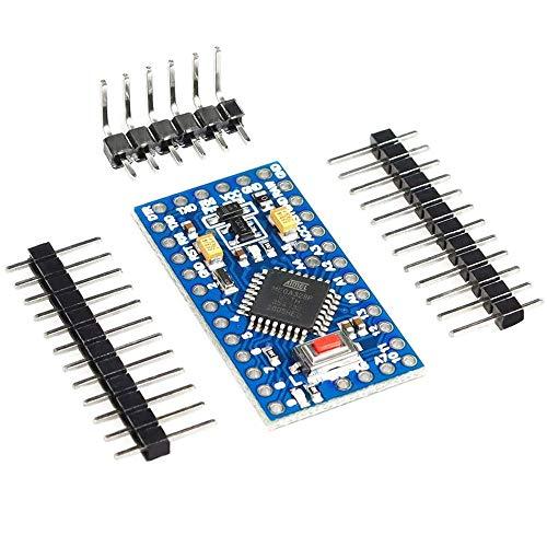 1 Stück Pro Mini Atmega328P Compatible-with-Arduino IDE - 3,3V 8MHz Entwicklerboard, Pro-Mini-Modul Mikrocontroller Platine
