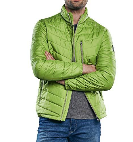 engbers Herren Sportive Steppjacke in Trendfarbe, 31032, Grün in Größe 52