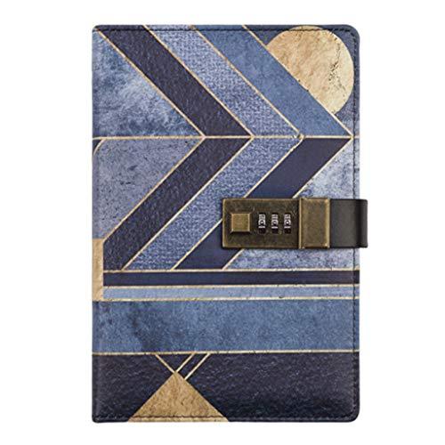 Diario de contraseña retro diario creativo libro B6 bloc de notas, cuenta de mano, caja de regalo, bloc de notas de leyenda egipcia (color como se muestra)