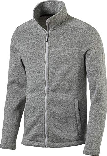 McKINLEY Herren Fleece Rubin III Jacke, Melange/Grey Light, L