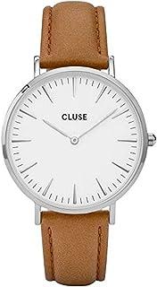 6bdc923220a Cluse Women s La Boheme 38mm Leather Band Metal Case Quartz Watch CL18211