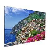 Arte de pared,Hermoso paisaje de la costa de Amalfi de Ital,pinturas al óleo enmarcadas impresas en lienzo Obra de arte moderna para sala de estar dormitorio decoración de pared de oficina