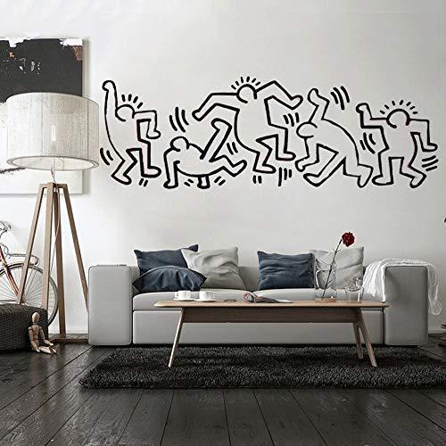 Wandaufkleber Wandbild Keith Haring Kinderzimmer Anime Poster Kinderzimmer Schlafzimmer Abziehbilder Wohnaccessoires Wohnzimmer 31 * 90Cm