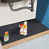 Under The Sink Mat,Cabinet Mat – Absorbent/Waterproof – Protects Cabinets, Premium Shelf Liner, Contains Liquids,Washable(24in x 36in) (24'×36')