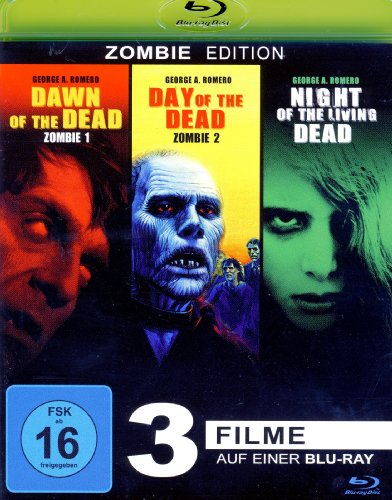 George A. Romero : Dawn of the Dead - Day of the Dead - Night of the living Dead (3Filme) [Blu-ray]