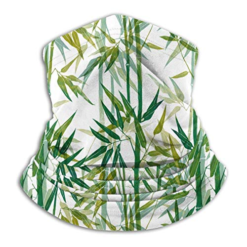 Lawenp imprime patrón de bambú frío cuello calentador cara bufanda para unisex