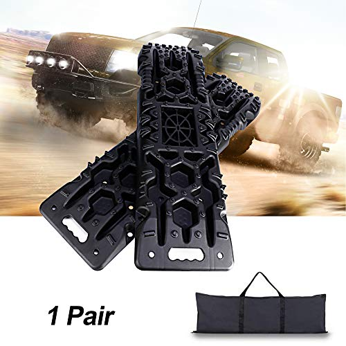 Off-Road Traction Boards with Jack Lift Base - 2Pcs Recovery Traction Mats, Traction Tracks for Trucks/Snow/Mud/Sand, Traction Ladder and Tire Traction Tool