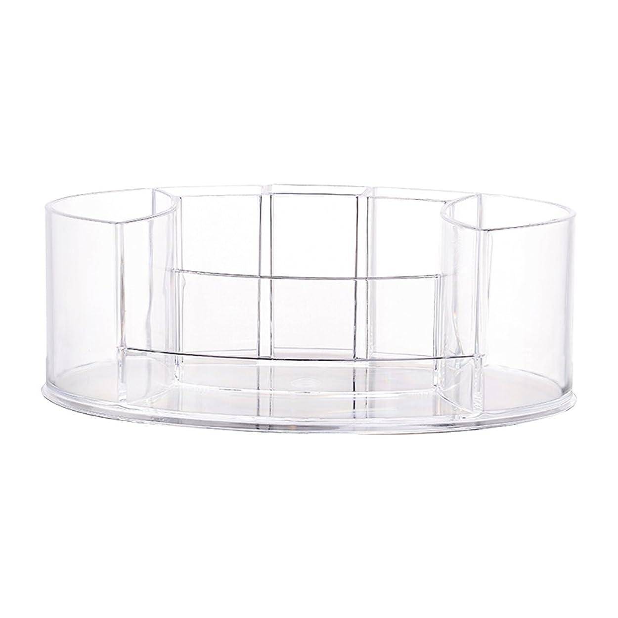 くソケット路地化粧品オーガナイザーデスクトップ収納ボックス透明化粧品収納ボックス宝石収納ボックス (Color : Transparent)