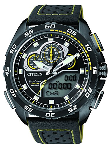 Citizen Herren-Armbanduhr Promaster Land Analog - Digital Quarz Leder JW0125-00e