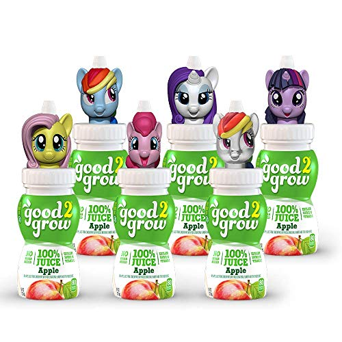 good2grow My Little Pony Collector Pack 100% Apple Juice, 6-pack of 6-Ounce Spill-proof Character Top Bottles, Non-GMO with No Sugar...
