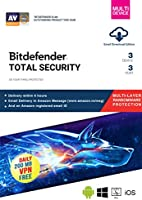 BitDefender Total Security Latest Version (Windows / Mac / Android / iOS) - 3 Devices, 3 Years (Email Delivery in 2...