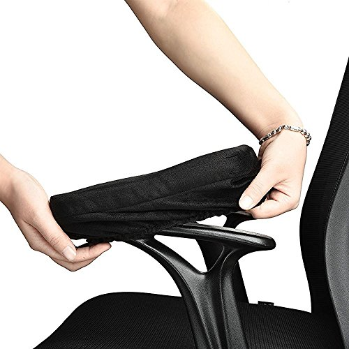 Ottawa Ergonomic Memory Foam Office Chair Armrest Pads, Comfy Gaming Chair Arm Rest Covers for Elbows and Forearms Pressure Relief Elbow Arm Rest Cover Chair Armrest Pads