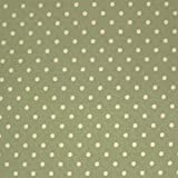 Sage Green 100% Poplin Cotton Fabric with White Polka Dots
