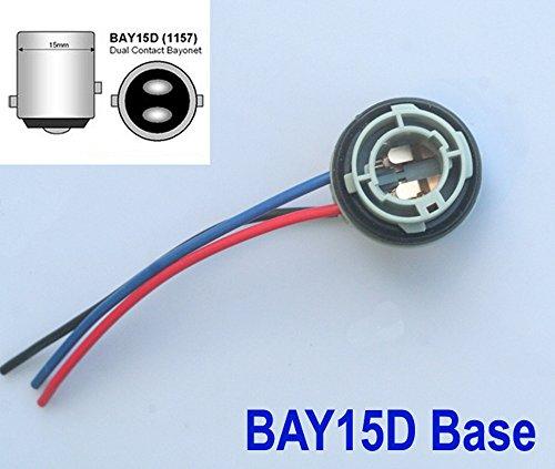 2x LAMPENFASSUNG - Bay15d Sockel 1157 - Lampe Birne Stecker Fassung 12V