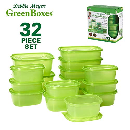 Debbie Meyer GreenBoxes 32 Piece Set – Keeps Fruits, Vegetables, Baked Goods and...